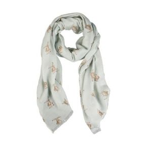 Wrendale Hare Scarf (Green)
